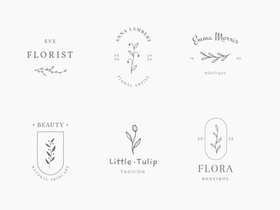 Floral logos & illustrations
