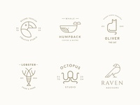 Line Art Logo Bundle - Animal Collection