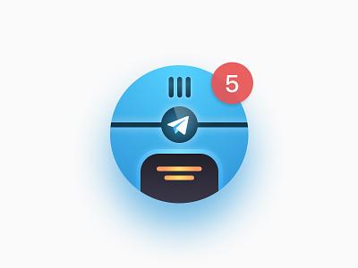 """icon """"telegram bot"""" bot telegram mac icon"""