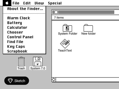 Mac os 6 UI (Sketch) sketch ui app mac