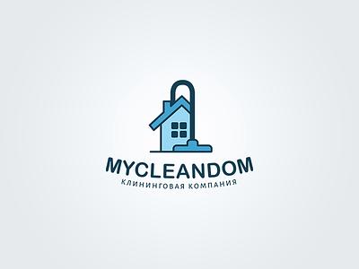 logo   MYCLEANDOM home logotype design logo