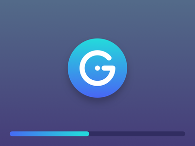 Loading Gradient loading ui design logo icon