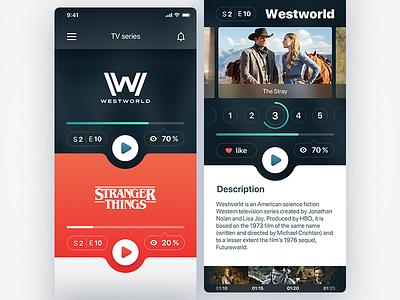 app ui   TV series tv app design ux ui