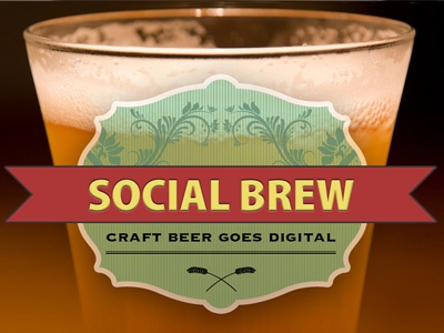Social Brew beer label
