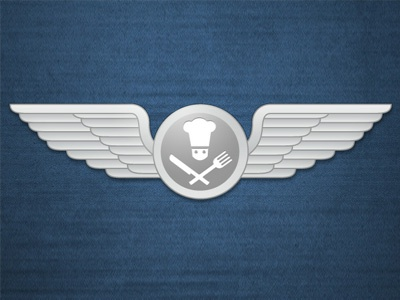 Airplane Food Goes High End wings food chef icon