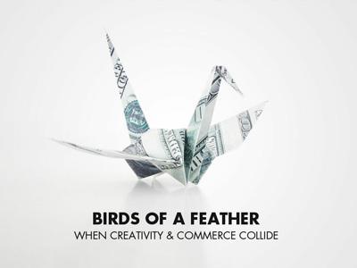 Birds Of A Feather origami bird crane money