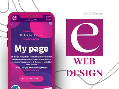 Web design by Eugen M. ux vector design ui logo motion graphics illustration branding graphic design animation