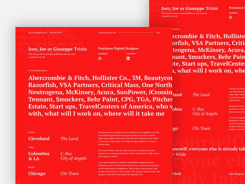 Resume refresh ui webdesign design digital branding visual design typography uiux art direction digital design
