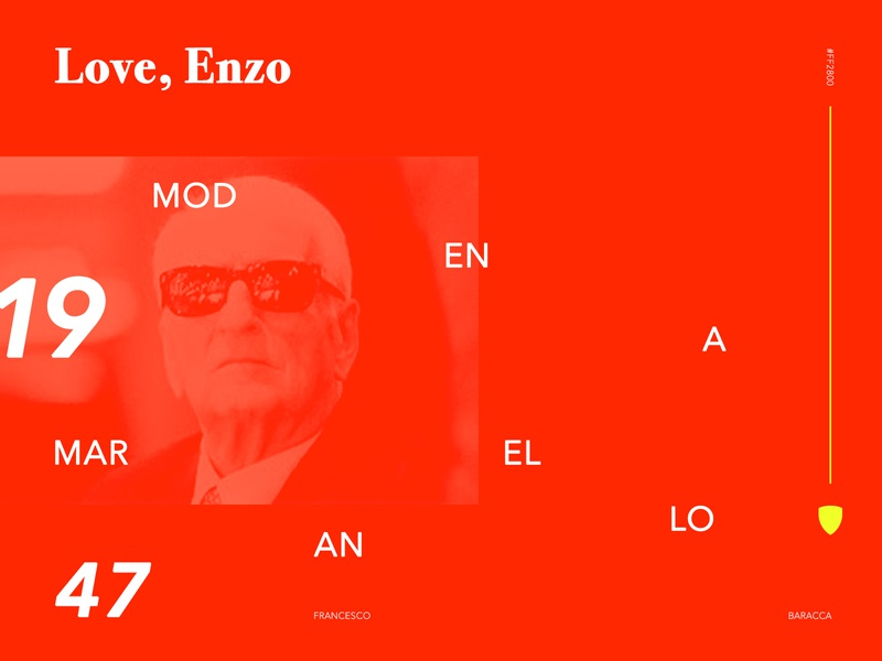 Enzo Series branding marketing art direction digitaldesign automotive design automotive auto ferrari visualdesign visual red typography type
