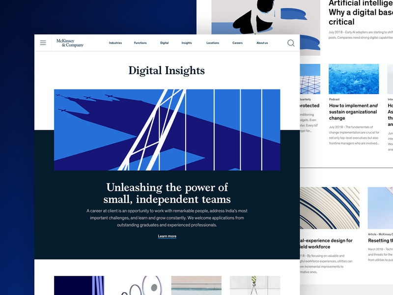 McKinsey - Digital Insights Refresh branding marketing visual design refresh design typography website digital uiux digital design
