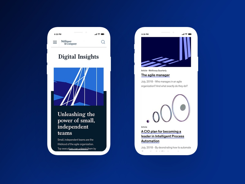 McKinsey - Digital Insights Mobile Refresh branding marketing visualdesign refresh design typography website digital uiux digital design
