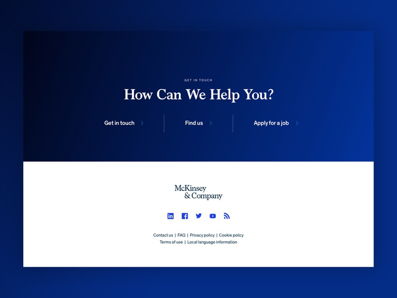 McKinsey - Footer Concept Refresh branding concept marketing visualdesign refresh design typography website digital uiux digital design