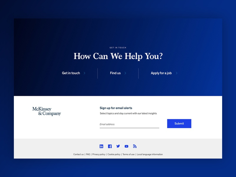 McKinsey - Footer Concept Refresh branding marketing visual design refresh design typography website digital uiux digital design