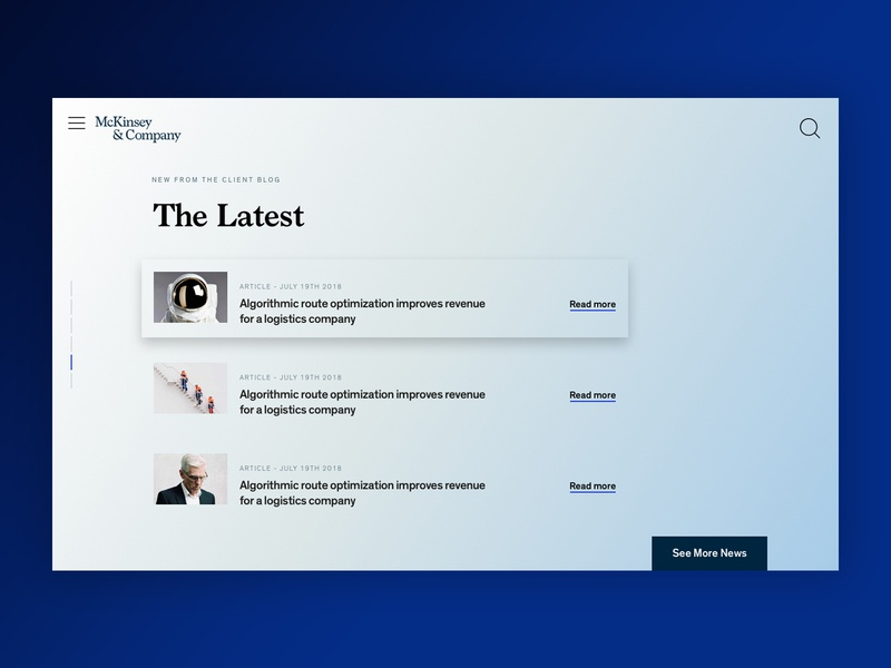 McKinsey - Homepage Blade Concept Refresh branding marketing visual design refresh design typography website digital uiux digital design