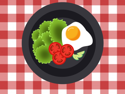 top view of food dish cucumber egg tomato ai vector illustrator design food dish top viw