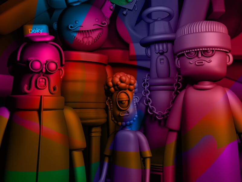WIP | Select work vol.1 new dribbble behance domivakero characterdesign cinema4d 3d