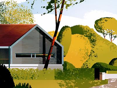 Mansion sketch illustration landscape illustration architecture landscape architecture landscape