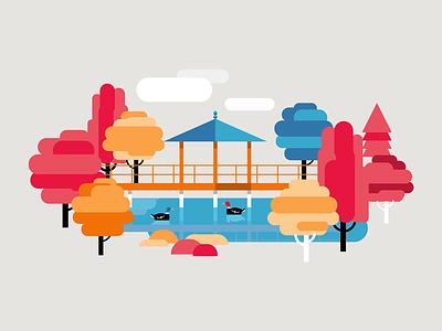 Japanese garden geometric duck garden landmark poi niemapa wroclaw wrocław