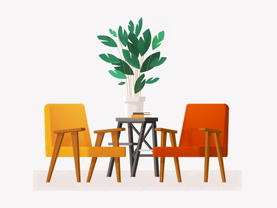 Chierowski ikea isometric illustration chair armchair furniture chierowski