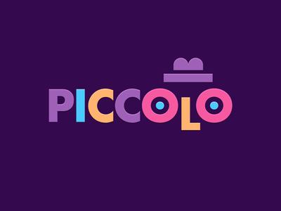 PICCOLO colors hat face kids children logotype logo theatre theater