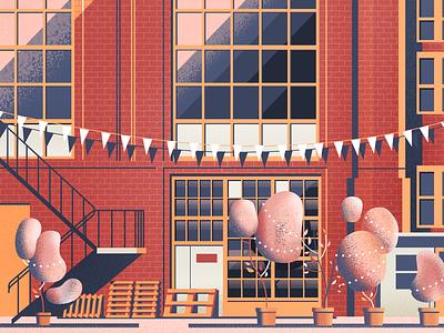 Wi-Ma party wedding illustration factory urban