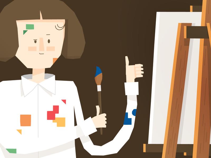 Zofia Stryjenska character design character woman artist paint painter illustration picture book children sophie