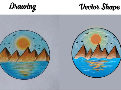 Drawing to VECTOR shape