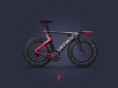 Specialized Element X bike sketch specialized triathlon