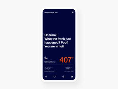 WTForecast hell offline helvetica iphonex wtf design app weather