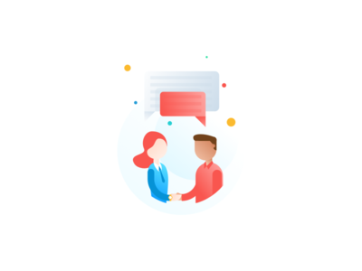 Connecting People Illustration talent people entry walkthrough app illustration