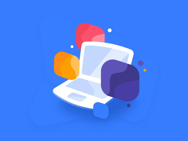 Mac Apps Illustration blog app illustration
