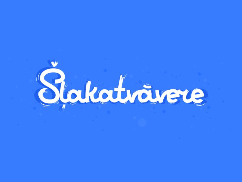 Šļakatvāvere typography vector handmade illustration typo type lettering