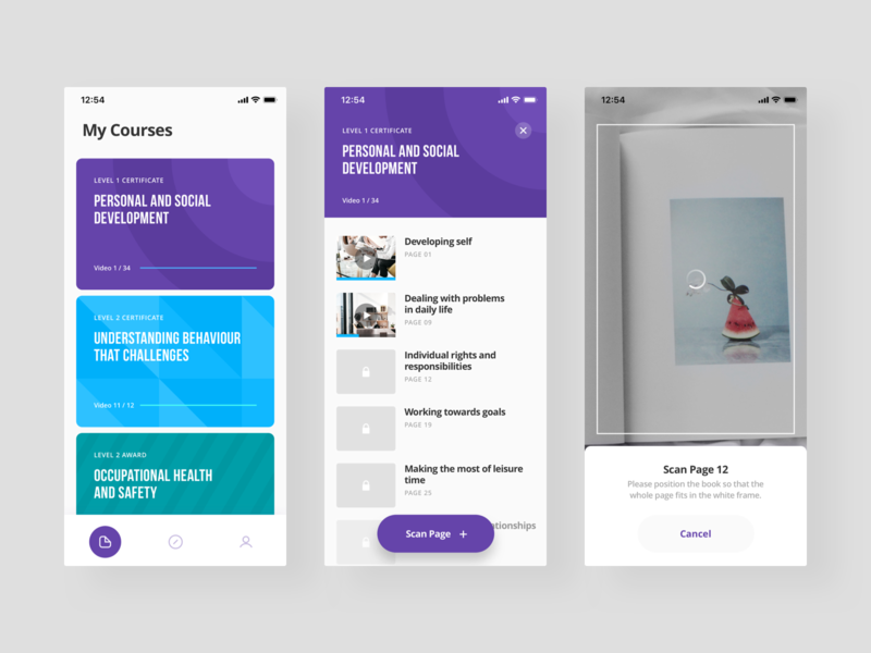 learners app ios learners concept design app