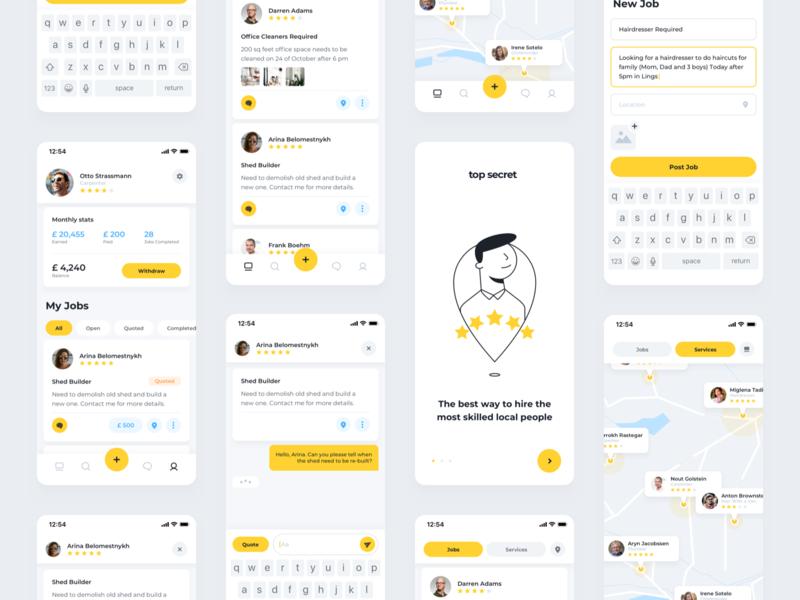 Job Listings App Concept branding ux ui sketch design phone app app concept