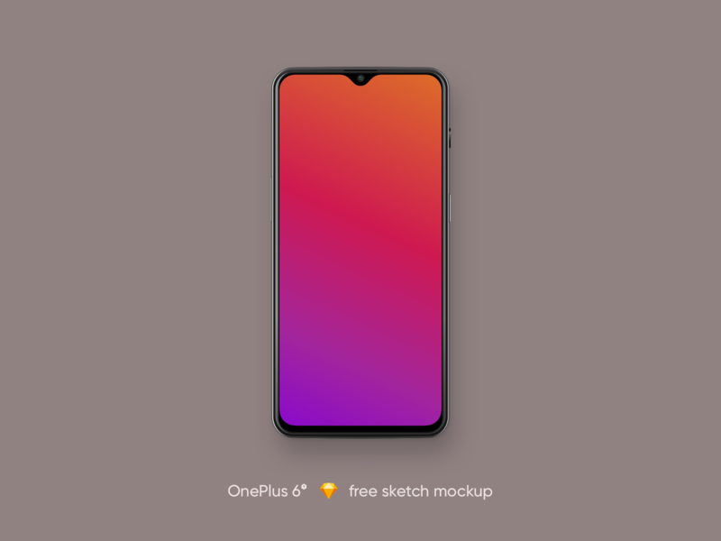 OnePlus 6t free sketch mockup phone android sketch free mockup oneplus