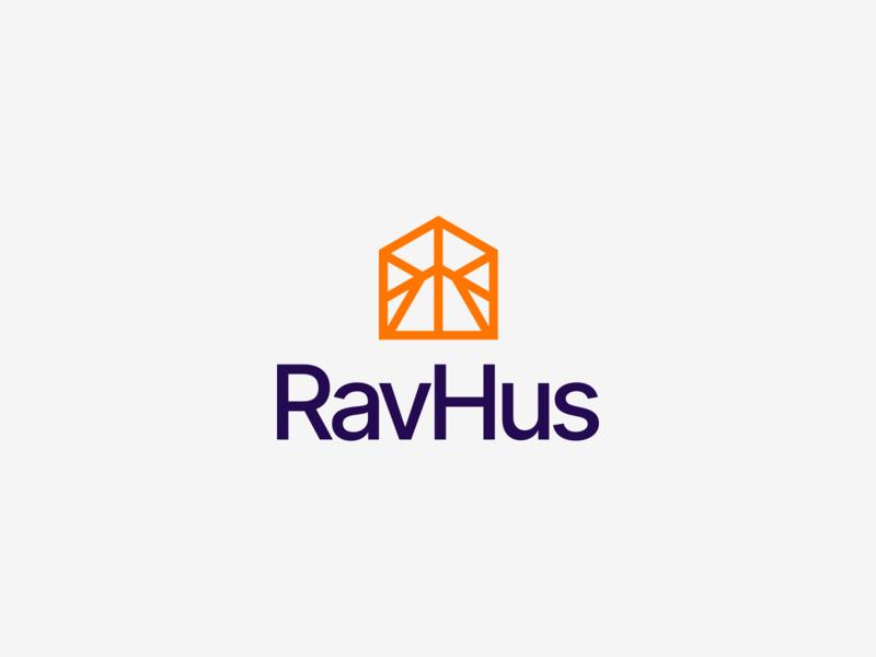 RavHus logo home house branding design branding symbol mark logodesign logo