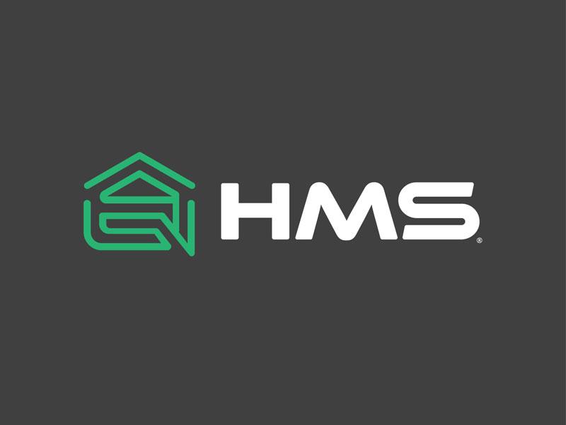 HMS typography icon logomark business startup freelance logo design identity branding creative