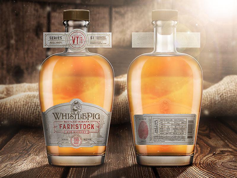 "WhistlePig Rye Whiskey - ""FarmStock"" startups business creative identity branding design packaging"