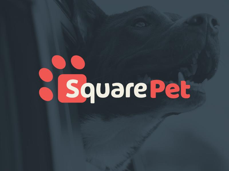 SquarePet freelance design packaging pet logo identity branding