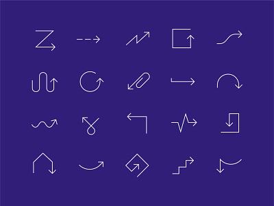 Which way? arrows icon set vector iconography direction arrow icon