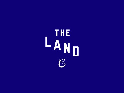 The Land logo ohio blue brand lettering sports baseball