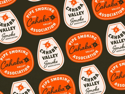 Cahaba Valley patch badge design association club logo lilly flower pipe smoke alabama badge