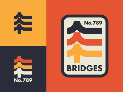 City Bridges city brooklyn new york trees icon explore nature bridge outdoors thicklines logo badge nyc