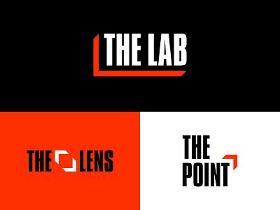The Lab branding concept politics reporting branding design lab logo logotype news