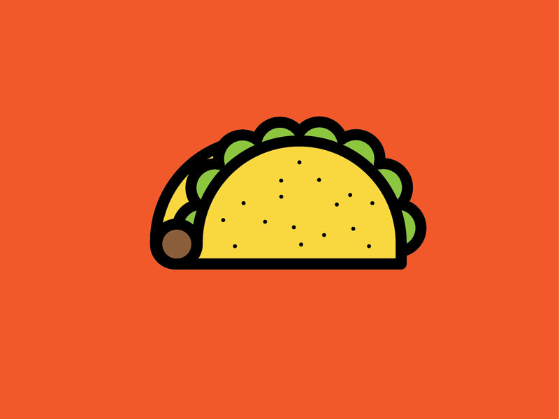 Taco-Giving! sticker cheese share thanksgiving illustration vector shapes taco