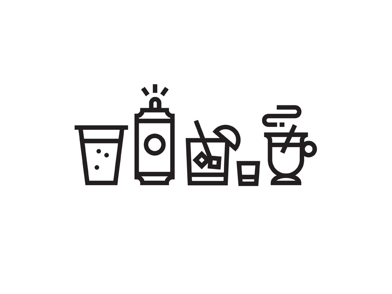 30 Days Drunk vector thick lines drunk beer illustration black and white lines icons