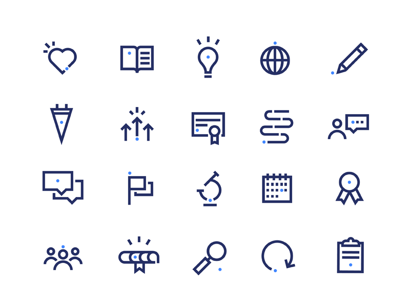iMentor Icons dot line graduation school illustration ui interface iconography icons