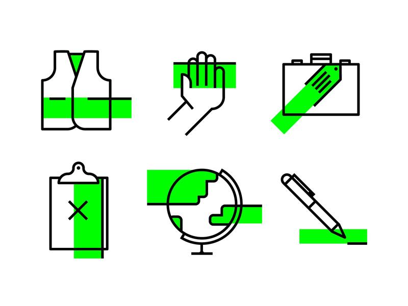 Let it fly ui illustration change world interface iconography ux icon