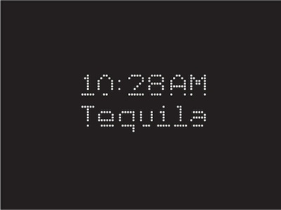10:28AM tacos letters custom geometry tequila type typography