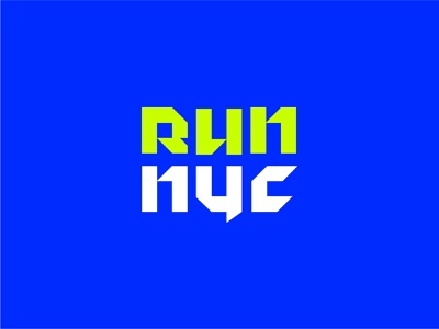 run nyc angles letters new york grid sports shapes type design typography running